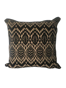 Zambia Black & Beige Cushion 50 x 50 cm