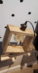 Reclaimed Wood Modern Table Lamp