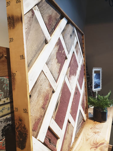 Reclaimed Barn Wood Wall Art-  Morris, IL