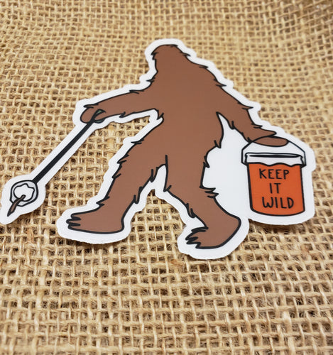 Sasquatch Sticker- Keep Nature Wild