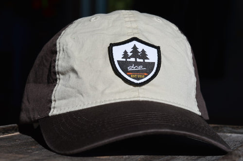 DNA Logo Vintage Cotton Cap- Brown/Khaki