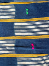 Load image into Gallery viewer, African Vintage Ikat Denim Textile 03