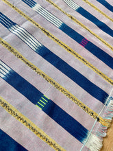 Load image into Gallery viewer, African Vintage Ikat Denim Textile 05