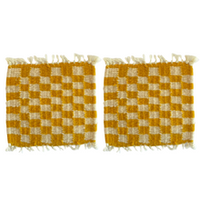 Load image into Gallery viewer, Checkered Coasters Ocre