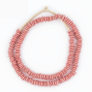 Coral Recycled Glass Styling Beads