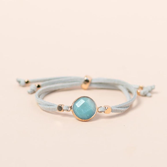 Amazonite Gemstone Slider Diffuser Bracelet 天河石擴香手帶