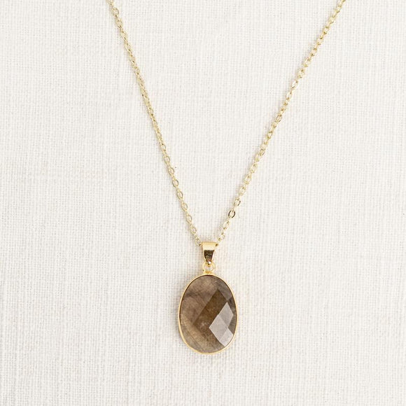 Smoky Quartz Mid Length Gemstone Diffuser Necklace 茶晶擴香頸鍊