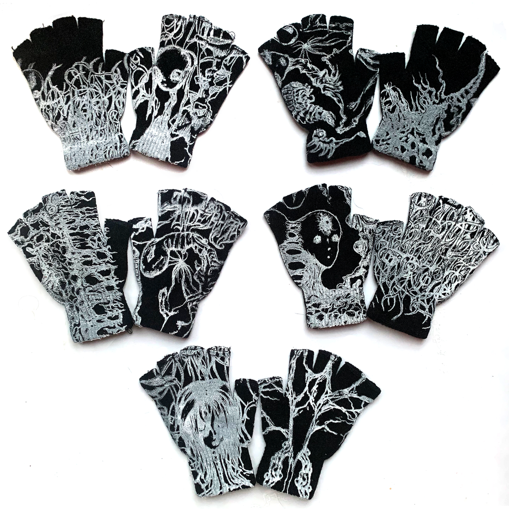 One-Of-A-Kind Fingerless QUALIATIK Gloves