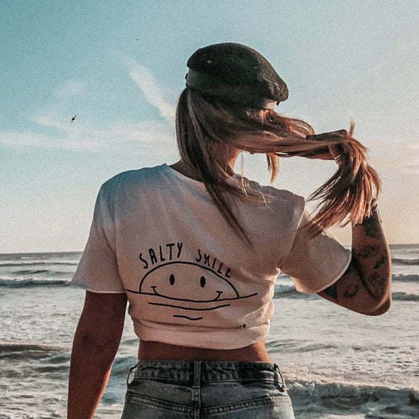 vetements surf salty smile Vintage White Good Vibes / T-shirt