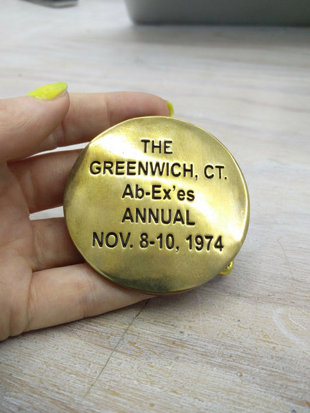 Cary Leibowitz | The Greenwich Ct. Ab-Ex'es Annual, Belt Buckle