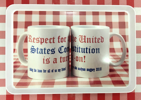 Cary Leibowitz l Respect for the United States Constitution is a turn-on! Melamine Tray