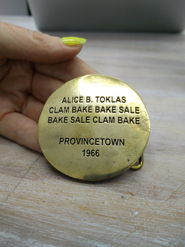 Cary Leibowitz | Alice B. Toklas, Belt Buckle