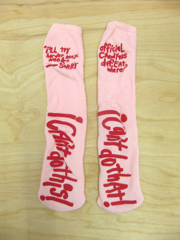 Cary Leibowitz | Untitled (Socks: I Can't Do That)