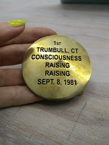 Cary Leibowitz | 1st Trumbull, Ct. Consciousness Raising, Belt Buckle