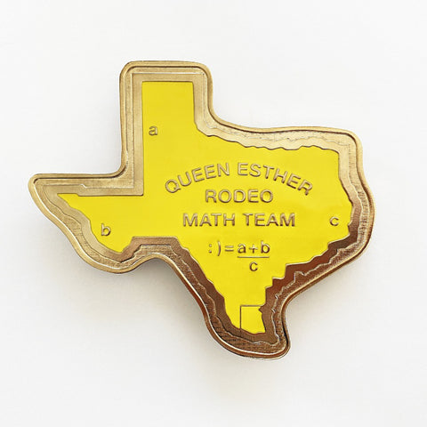 CARY LEIBOWITZ | Queen Esther Rodeo Math Team Belt Buckle