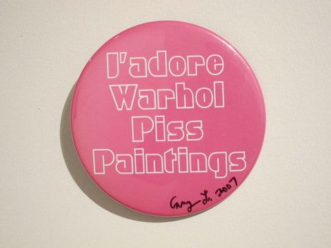 Cary Leibowitz | J'Adore Andy Warhol Piss Paintings