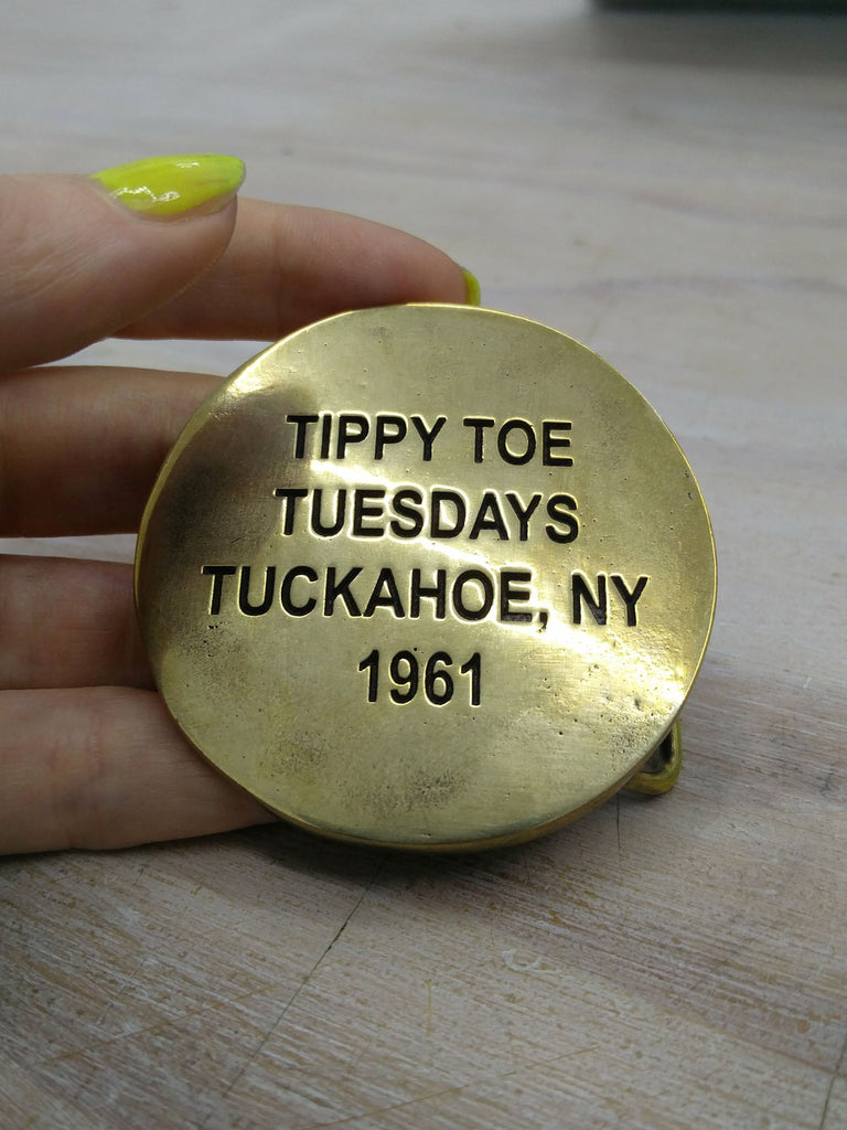 Cary Leibowitz | Tippy Toe Tuesdays, Belt Buckle