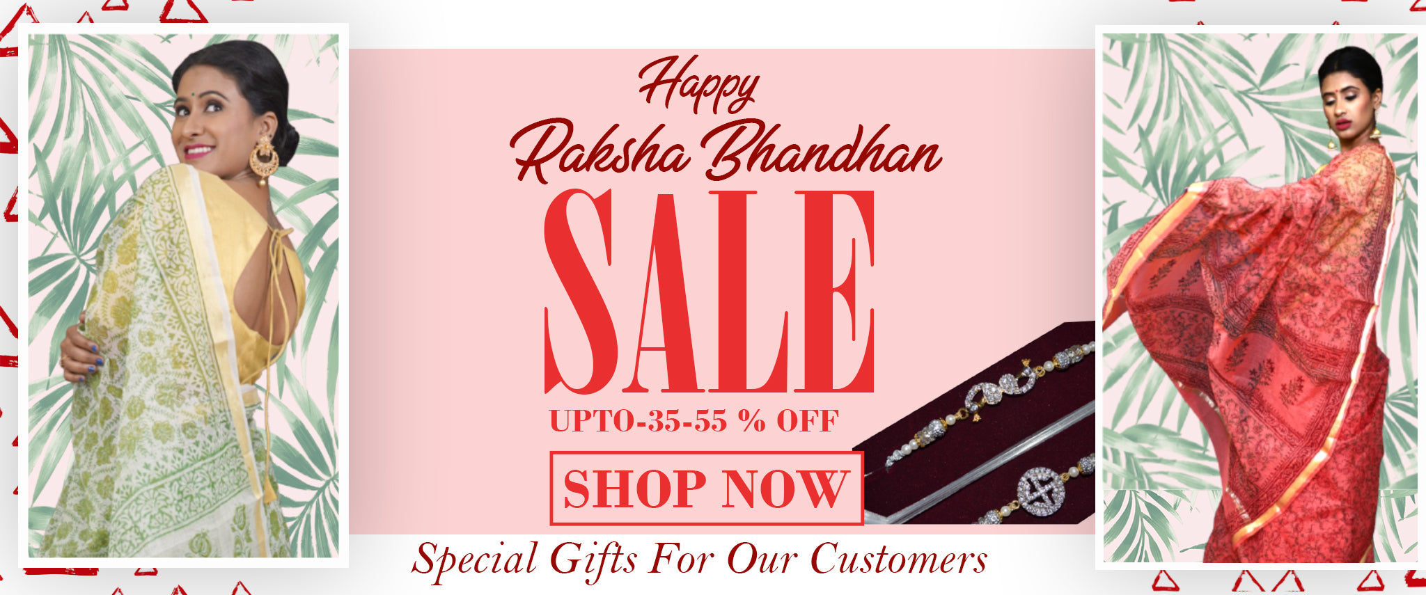 Happy Raksha Bhandhan Sarees Sale.