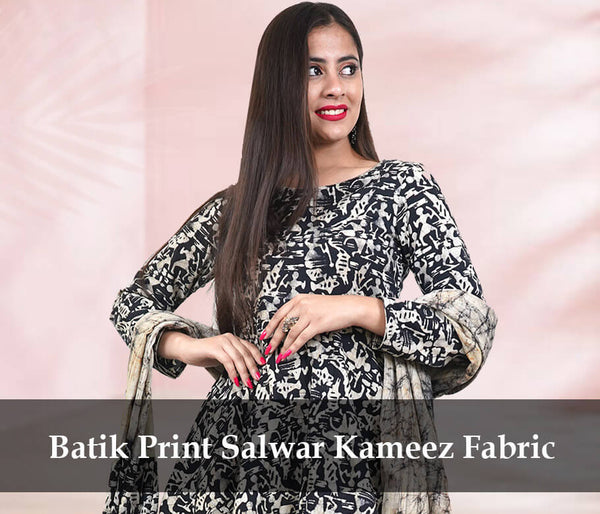 salwar suit fabric batik