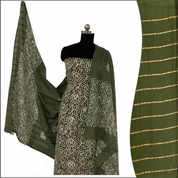Hand Print Batik Salwar Suit 100 % Cotton