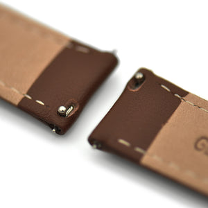 -Strap- Leder Umber Brown (Rose Gold)