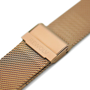 -Strap- Milanaise Rose Gold