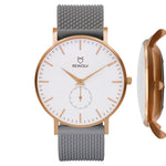 -EDGE- Uhr Roségold  Silikon Light Grey