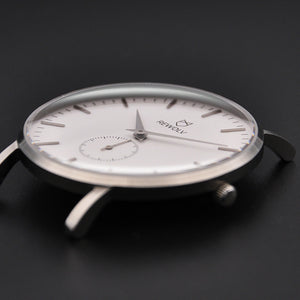 -EDGE- Uhr Silber  Silikon Light Grey
