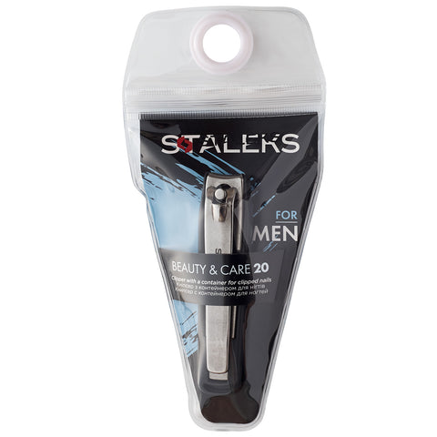 Staleks Beauty&Care 20 Nail Clipper With Container for Clipped Nails KBC-20