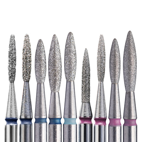 "Staleks Diamond Nail Drill Bit FA10 ""Flame"" 6 pcs set"