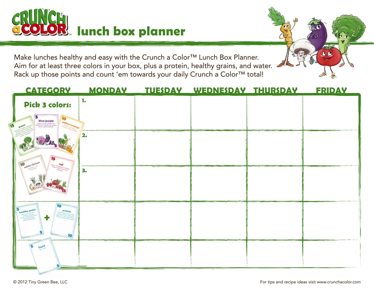 free lunch meal planner