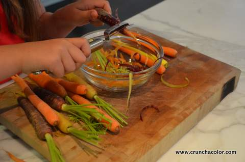 Friendship Garden Soup Peeling Carrots