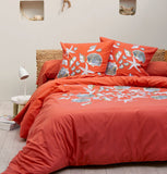 Seashell duvet cover and pillowcase