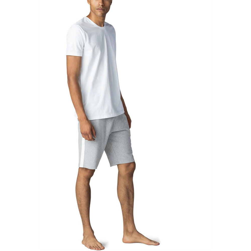 Men's set, white T-shirt and boxer shorts in pure cotton