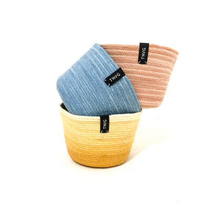 Naturally Dyed Cotton Pot - Dunes