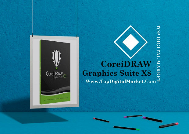 Corel DRAW X8 Graphics Suite 2018 | Official Download | Lifetime License Key 5PC