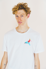 Load image into Gallery viewer, Dolphin Rider Red Embroidered Tee - Unisex