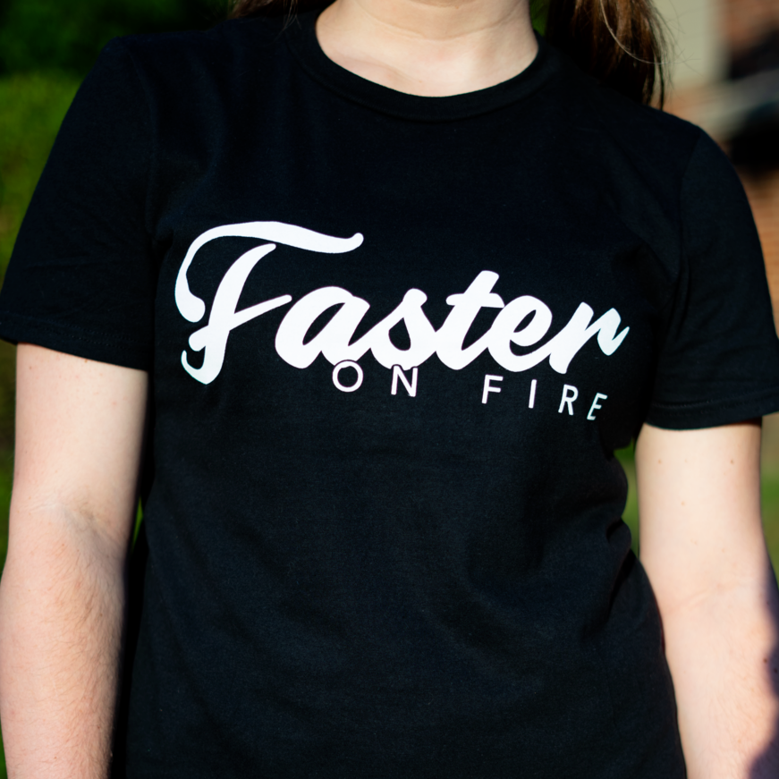 Faster on Fire Logo Tee