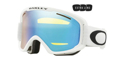 Oakley O Frame 2.0 Pro XM in Matte White with Hi Yellow Iridium and Dark Grey Lenses oo7113-05