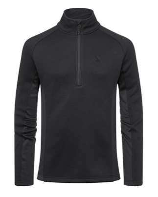 Spyder Outbound Mens Half Zip Sweater in black