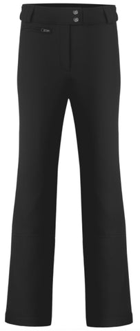 Poivre Blanc Women's 1120 Softshell Pants in Black