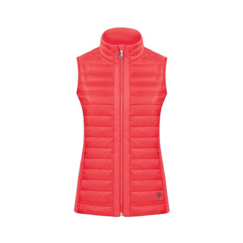 Poivre Blanc Ladies W18 1255 Hybrid Quilted Vest Scarlet Red