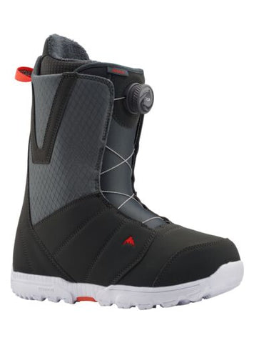 Burton Moto BOA Snowboard Boots in Grey and Red