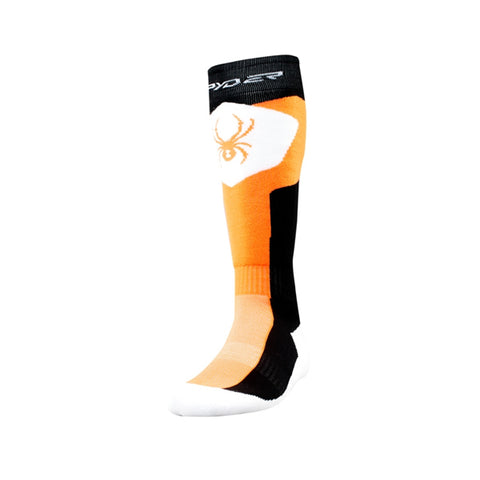 Spyder Discover Mens Ski Snowboard Socks Black/Bryte Orange