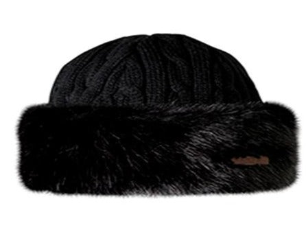 Barts Fur Cable Ladies Bandhat Black