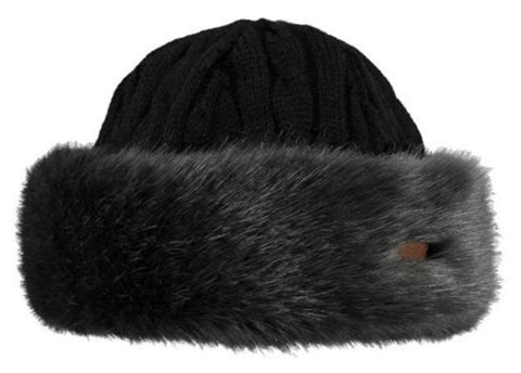 Barts Fur Cable Ladies Bandhat Grey