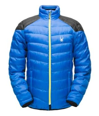 Spyder Geared Mens Synthetic Down Jacket Tks-Blk-Aci