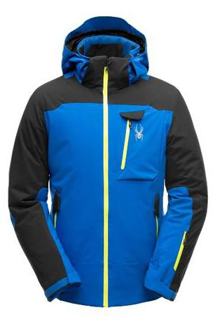 Spyder Flywheel Mens Ski Jacket  in Bright Blue with Black