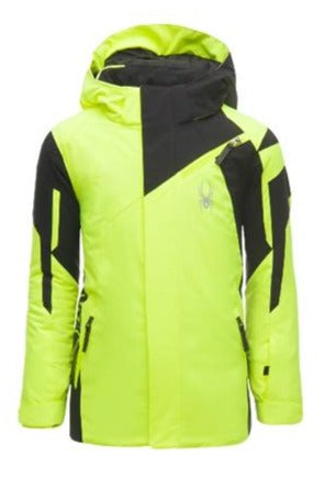 Spyder Challenger Boys Ski Jacket in Yellow