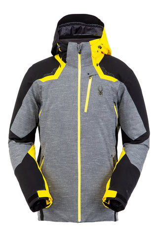 Spyder Leander GorTex Mens Ski Jacket in Novelty Ebony